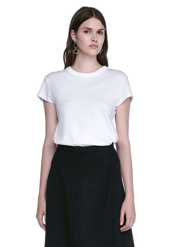 T by ALEXANDER WANG TOPS CAP SLEEVE FITTED BODYSUIT