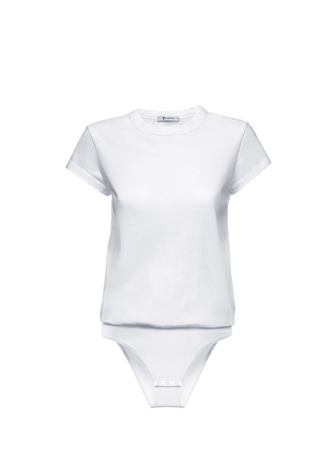 T by ALEXANDER WANG CAP SLEEVE FITTED BODYSUIT TOP Adult 12_n_d