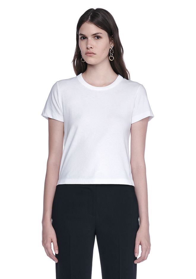 T by ALEXANDER WANG womens-classics COTTON JERSEY BOY TEE