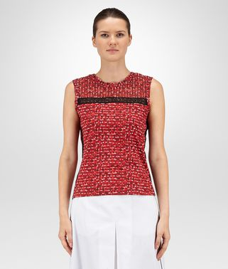 T-SHIRT IN MULTICOLOR PRINTED COTTON JERSEY, LACE DETAIL