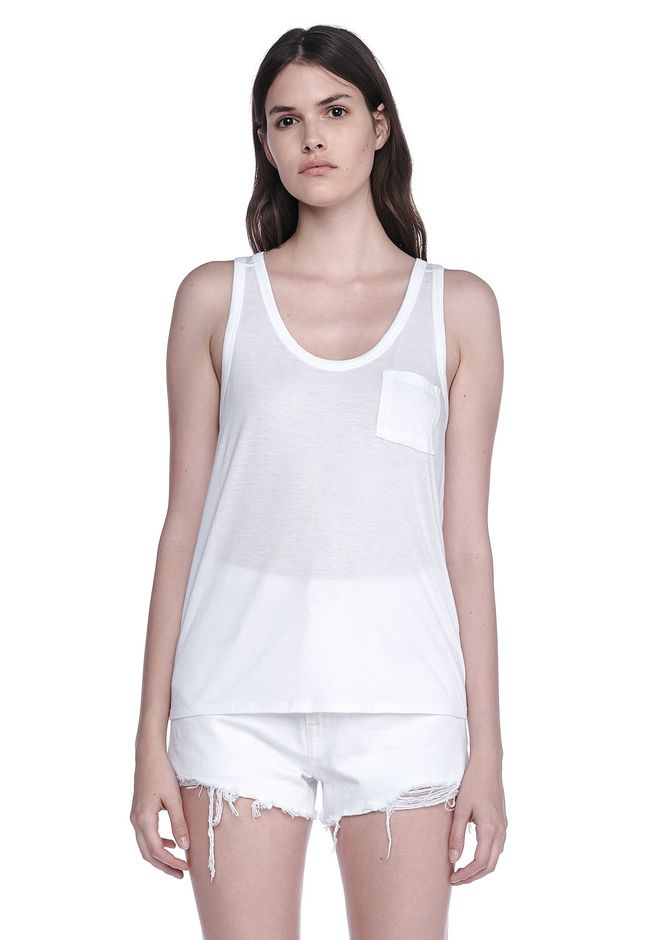 T by ALEXANDER WANG t-by-alexander-wang-classics CLASSIC RAYON ECOSIL JERSEY TANK