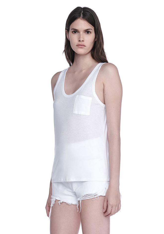 T by ALEXANDER WANG CLASSIC RAYON ECOSIL JERSEY TANK 上衣 Adult 12_n_a