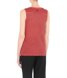 KARL LAGERFELD STRIPED LINEN TANK