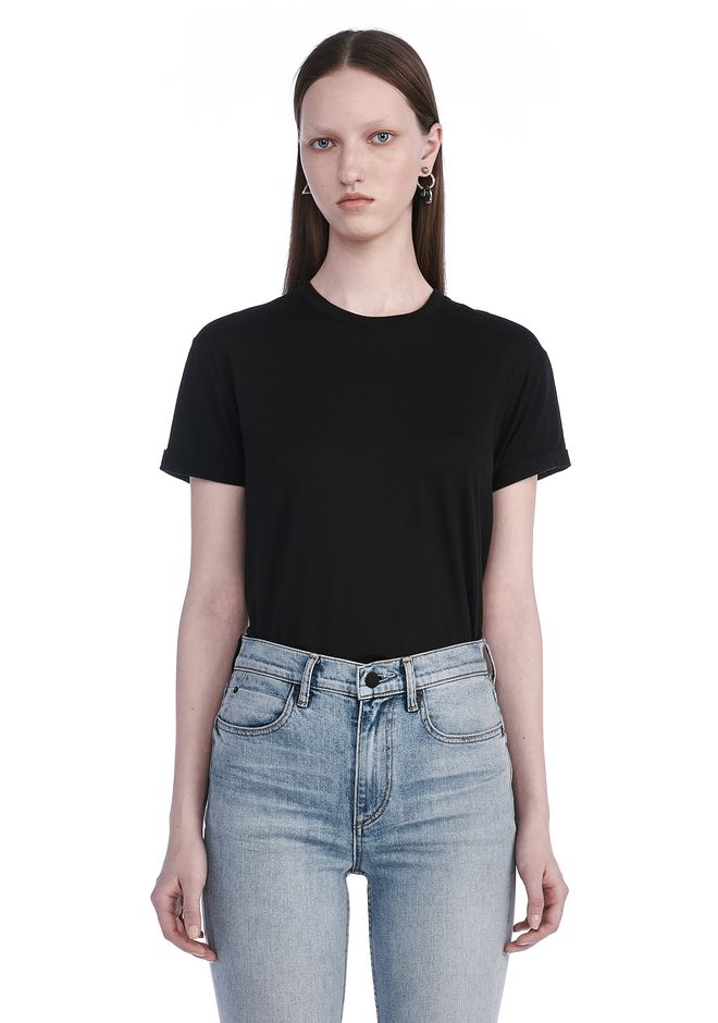T by ALEXANDER WANG t-shirts SUPERFINE COTTON CREWNECK TEE