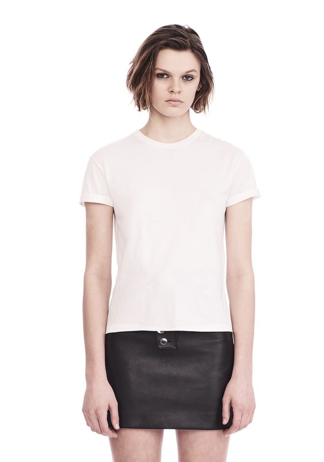 T by ALEXANDER WANG t-by-alexander-wang-classics SUPERFINE COTTON CREWNECK TEE