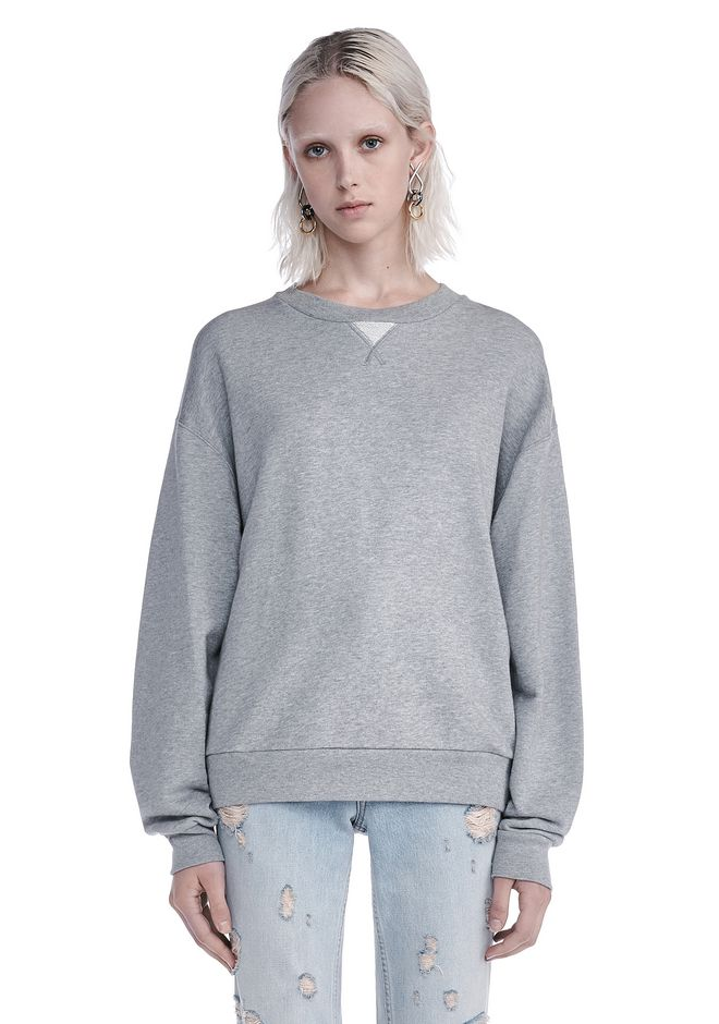 T by ALEXANDER WANG TOPS SOFT FRENCH TERRY SWEATSHIRT