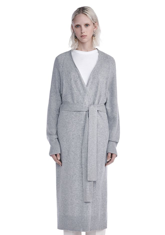 T by ALEXANDER WANG knitwear-t-by-alexander-wang-woman CASHWOOL ROBE CARDIGAN