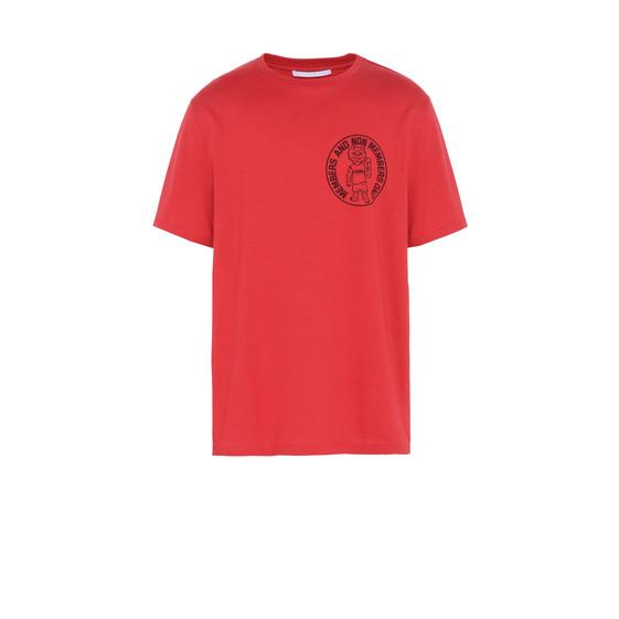 Red Members Print T-shirt