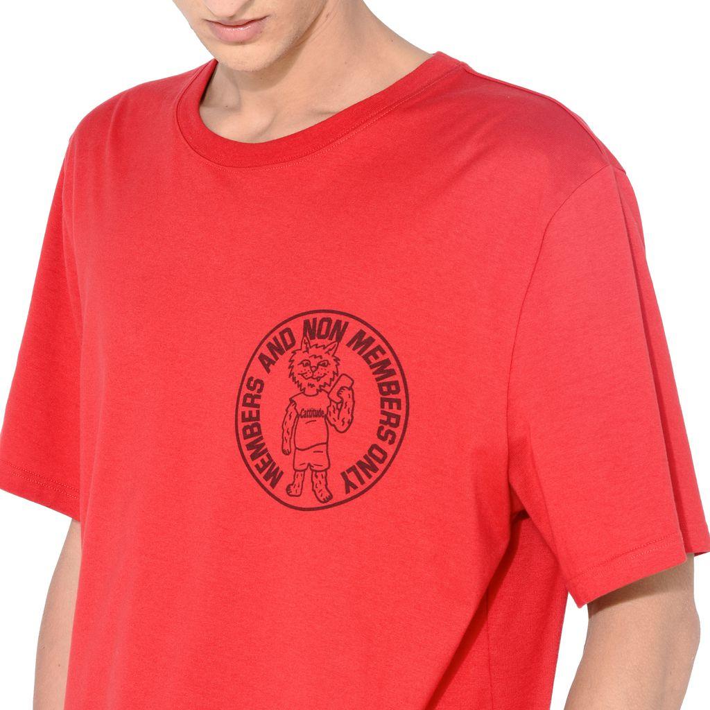 Red Members Print T-shirt - STELLA McCARTNEY MEN