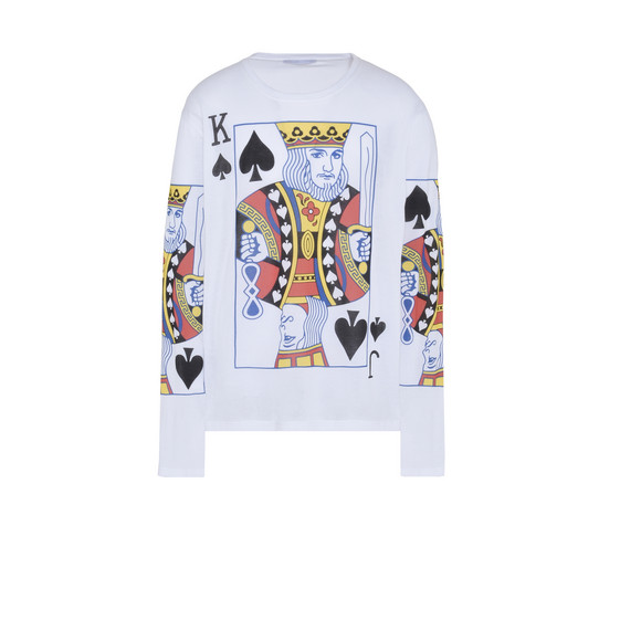 Playing Cards Print Long T-shirt
