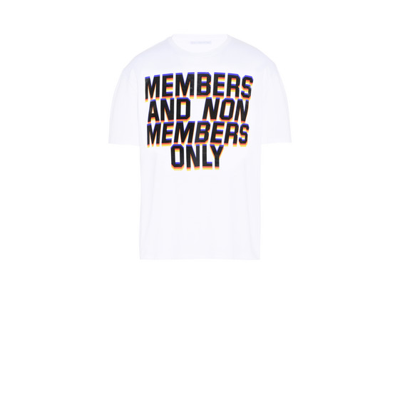 ホワイト メンバーズ プリント Tシャツ