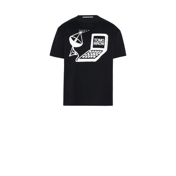 ブラック トゥモロー プリント Tシャツ
