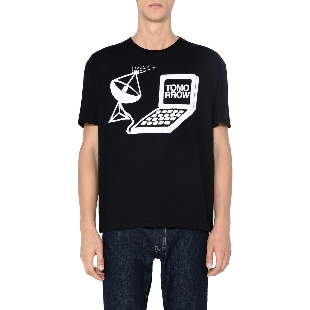 Black Tomorrow Print T-shirt - STELLA McCARTNEY MEN