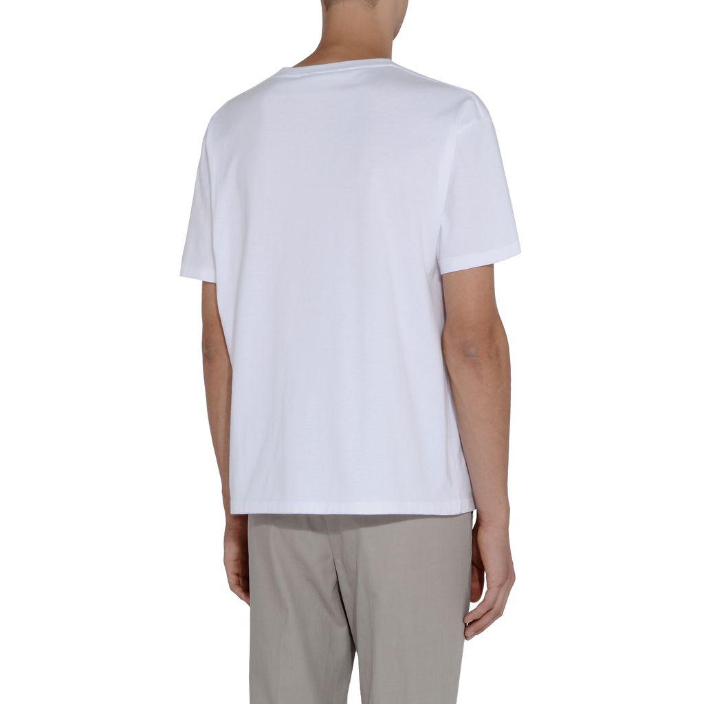 White Tomorrow Print T-shirt - STELLA McCARTNEY MEN