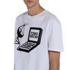 STELLA McCARTNEY MEN White Tomorrow Print T-shirt Men T-shirts U a