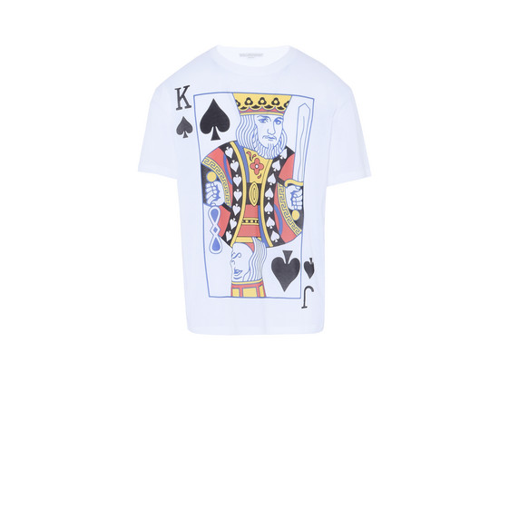 White Playing Cards Print T-shirt