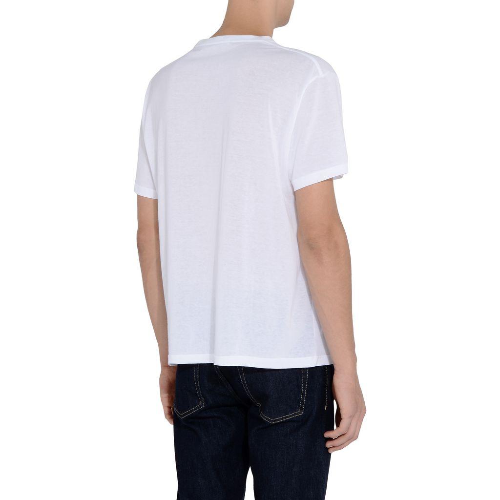 White Nice One Print T-shirt - STELLA McCARTNEY MEN