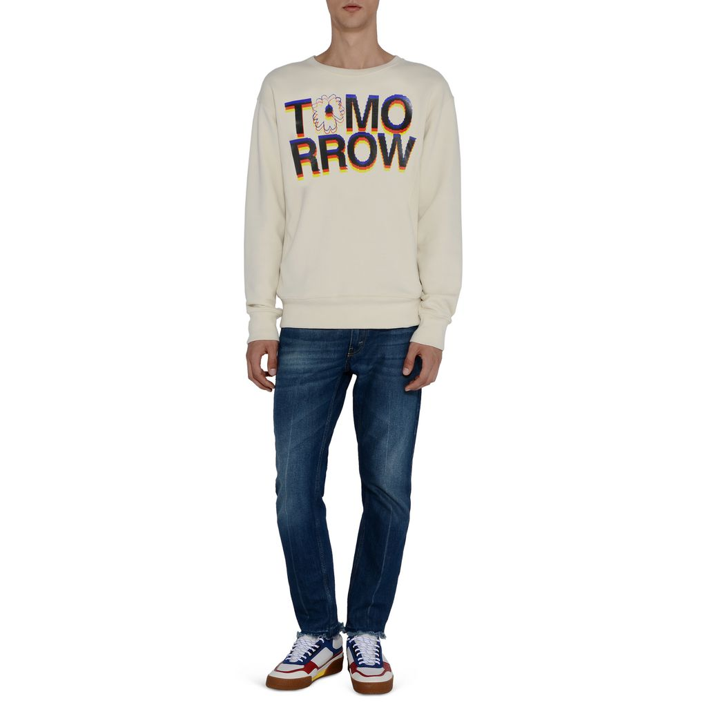 Tomorrow Print Sweatshirt - STELLA McCARTNEY MEN