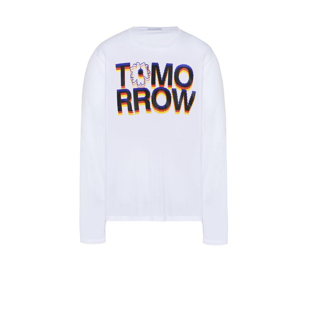 White Tomorrow Print Long T-shirt - STELLA McCARTNEY MEN