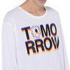 STELLA McCARTNEY MEN White Tomorrow Print Long T-shirt Men T-shirts U a
