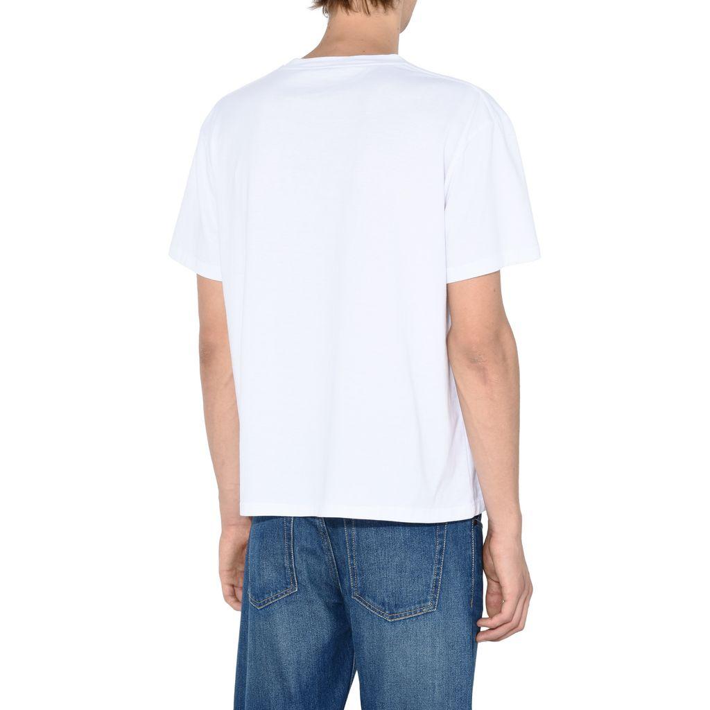 White Logo T-shirt - STELLA McCARTNEY MEN