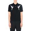 STELLA McCARTNEY MEN ブラック エンブロイダード ポロシャツ Men T-shirts U d
