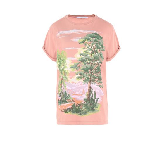 ピンク ランドスケープ Tシャツ