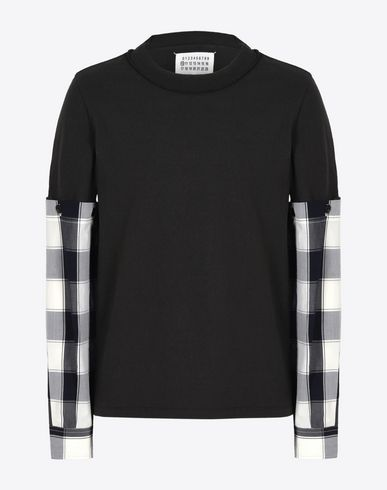 MAISON MARGIELA 10 Long sleeve t-shirt U Tee-shirt with detachable shirt sleeves f
