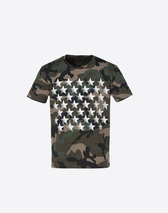 VALENTINO CAMOUFLAGE MARIPOSA PRINT T-SHIRT 37958160UD