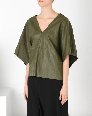 MM6 by MAISON MARGIELA Top D Fake leather top f