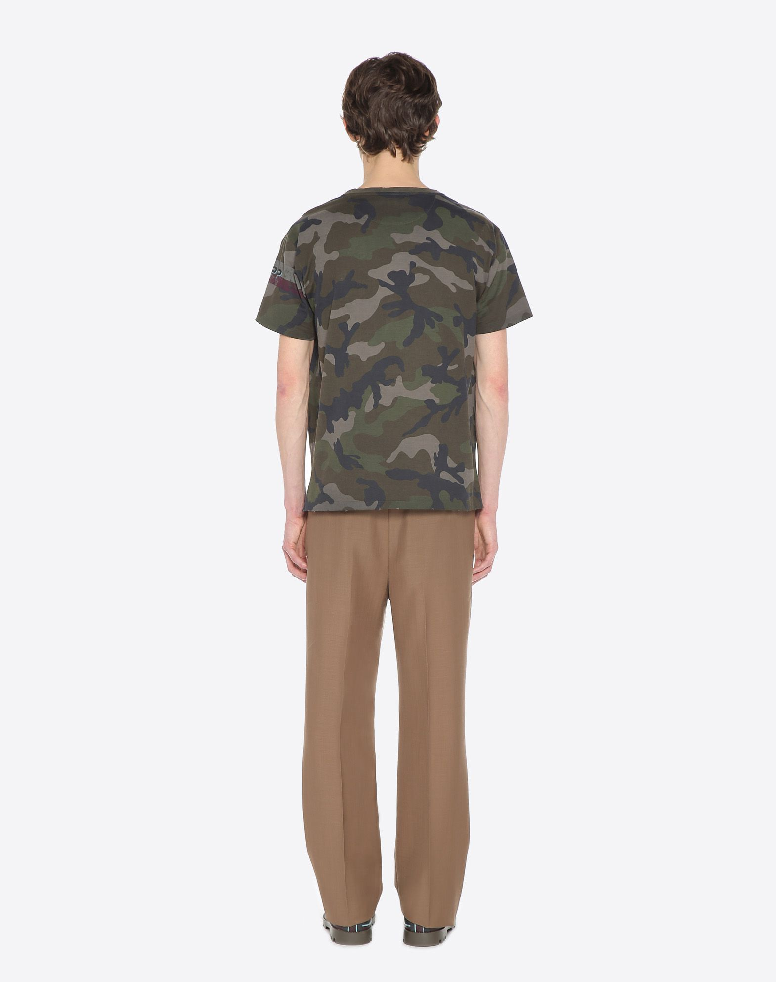 VALENTINO Jersey Camouflage design Round collar Short sleeves  37960462pa