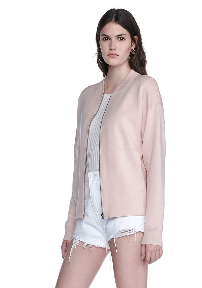 ALEXANDER WANG BOMBER JACKET WITH SEAMLESS POCKET TOP Adult 12_n_a