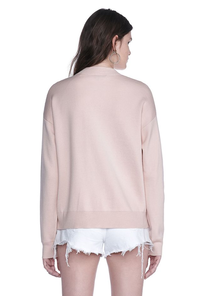 ALEXANDER WANG BOMBER JACKET WITH SEAMLESS POCKET TOP Adult 12_n_d