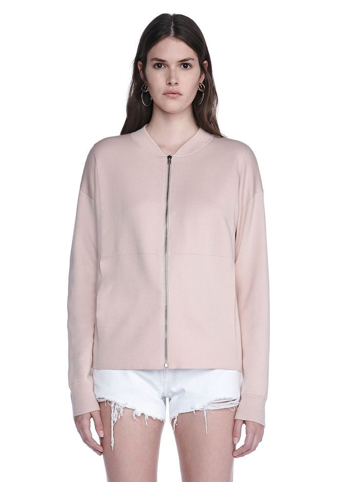 ALEXANDER WANG BOMBER JACKET WITH SEAMLESS POCKET TOP Adult 12_n_e