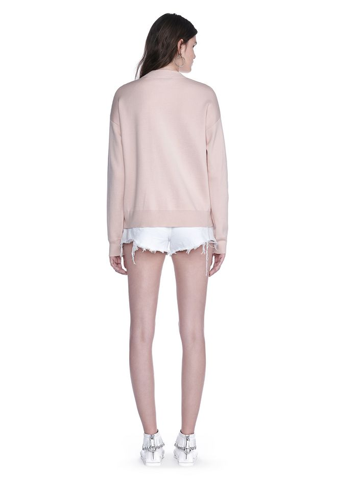 ALEXANDER WANG BOMBER JACKET WITH SEAMLESS POCKET TOP Adult 12_n_r