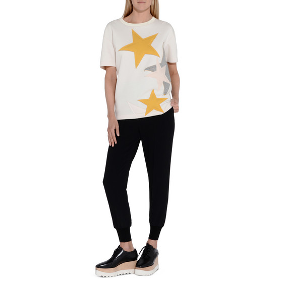 Short Sleeved Star Sweatshirt