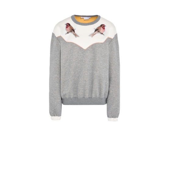 Embroidered Crew Neck Jumper