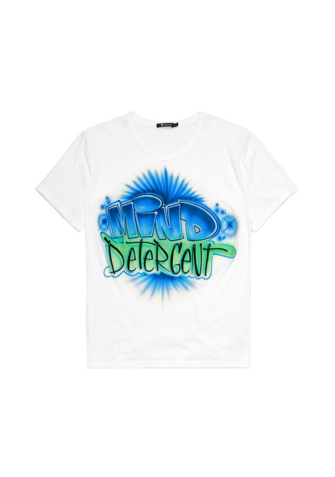 T by ALEXANDER WANG TOPS Men MEN'S AIRBRUSHED CLASSIC SHORT SLEEVE TEE