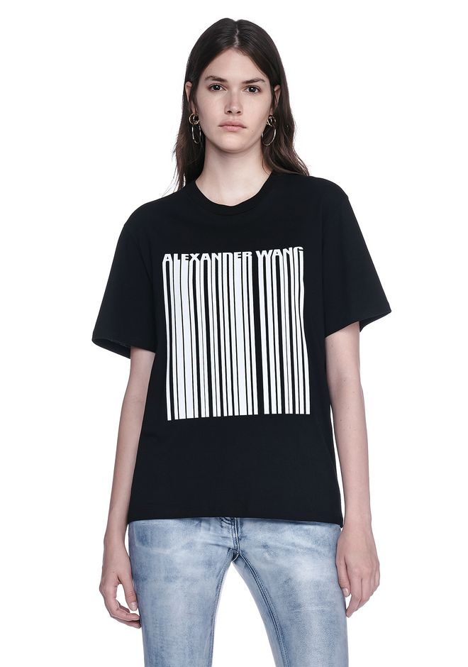 ALEXANDER WANG new-arrivals-ready-to-wear-woman BONDED BARCODE TEE