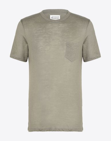 MAISON MARGIELA 10 Short sleeve t-shirt U Ramie cotton tee-shirt f