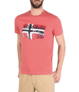 NAPAPIJRI SALENY MAN SHORT SLEEVE T-SHIRT,RED