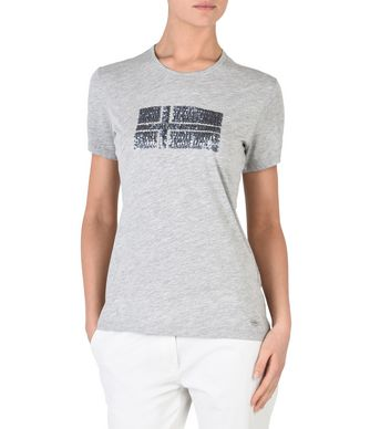 NAPAPIJRI SEVILLA WOMAN SHORT SLEEVE T-SHIRT,LIGHT GREY