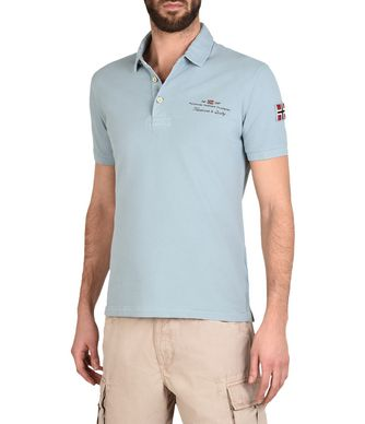 NAPAPIJRI ELBAS MAN SHORT SLEEVE POLO,SKY BLUE