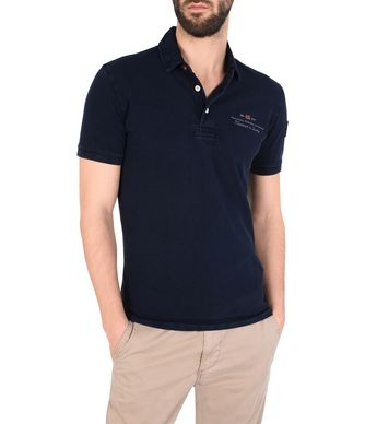NAPAPIJRI ELBAS MAN SHORT SLEEVE POLO,DARK BLUE