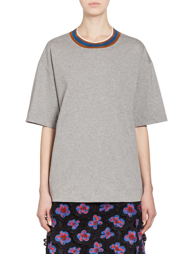 da9bc02adcb72 T Shirt In Cotton Jersey Multicolored Stripes from the Marni Spring ...