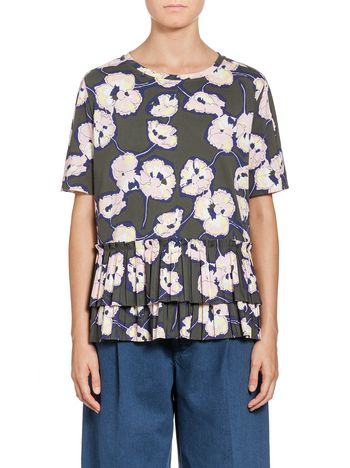 Marni T-shirt in cotton jersey Whisper print Woman