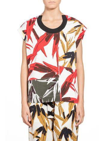 Marni T-shirt in cotton jersey Swash print Woman