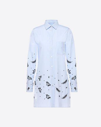 VALENTINO Embroidered Cotton Shirt 37971129KP