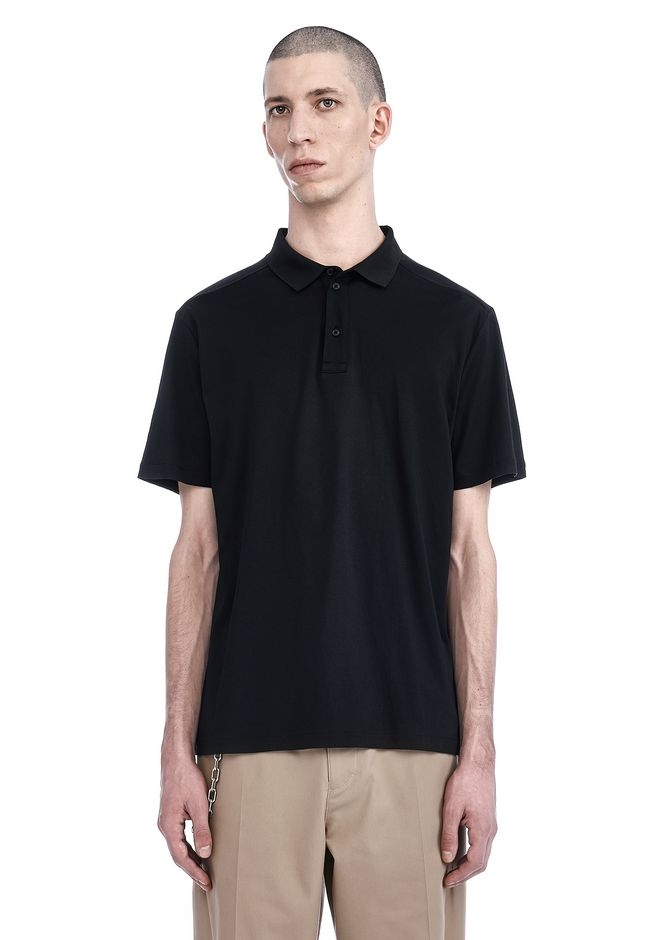T by ALEXANDER WANG TOPS Men SHORT SLEEVE POLO TEE
