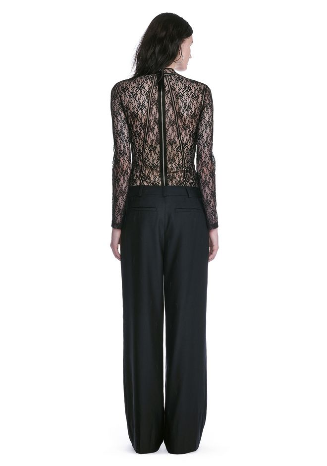 ALEXANDER WANG FLORAL LACE FITTED TOP TOP Adult 12_n_r